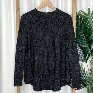 COS Charcoal Grey Wool Linen Knit Swing Jumper XS